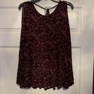 Tops - Cold shoulder top with bell sleeve and open back